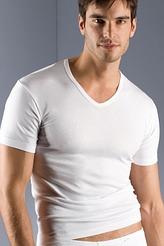 Shirt, V-Ausschnitt von Mey Herrenwäsche aus der Serie Noblesse