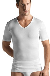 Shirt, V-Ausschnitt von Hanro aus der Serie Cotton Pure