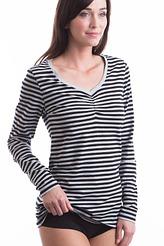 Shirt, langarm stripe von Skiny