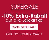 Supersale - noch mal 10% Rabatt auf alle Saleartikel