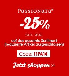 Passionata Aktion - 25% Rabatt