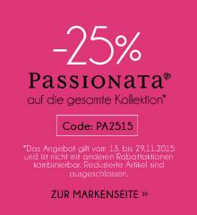 25% Rabatt auf alle nicht reduzierten Artikel von Passionata