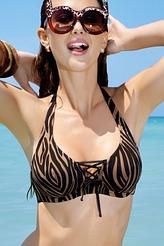 Triangel-Bikini-Oberteil mit Bügel von Antigel