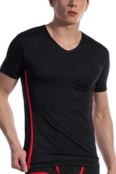 T-Shirt, V-Neck regular von Olaf Benz