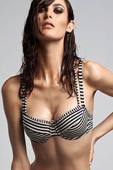 Plunge Balconette Bikini-Oberteil von Marlies Dekkers aus der Serie Holi Vintage blue
