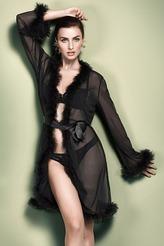 Mantel mit Federn von Escora aus der Serie Marilyn