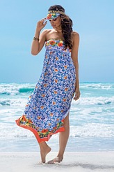 Kleid lang von Antigel aus der Serie La Folie Azulejos