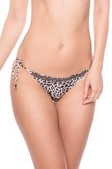 Bikini-Slip Tie-Side leopard von Watercult