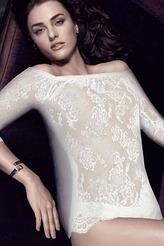 Shirt mit Carmen-Ausschnitt von Escora